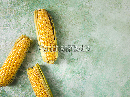 three, fresh, corncobs - 28746408