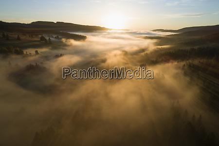 niemcy badenia wirtembergia widok drona na