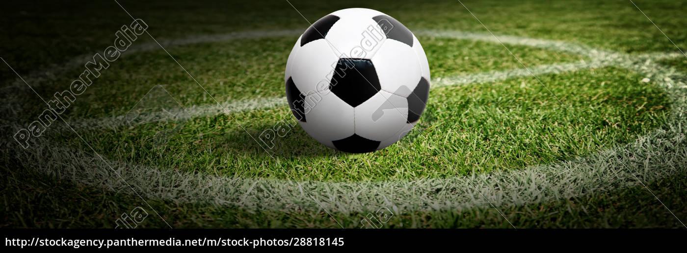 soccer, ball, on, green, playground., soccer - 28818145