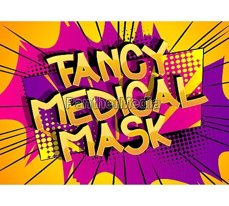 fancy medical mask komiks styl kreskowki