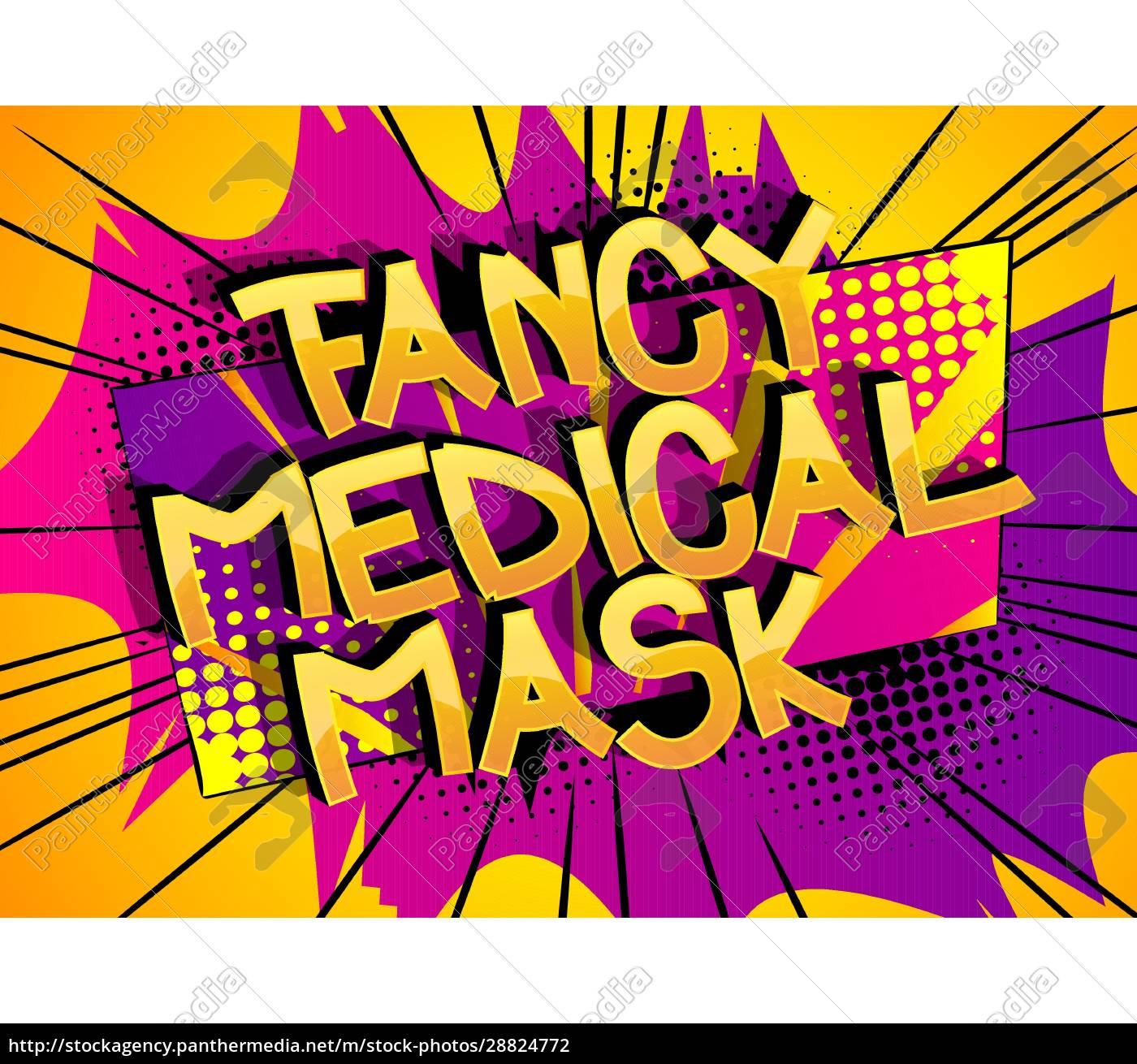 fancy, medical, mask, komiks, styl, kreskówki - 28824772