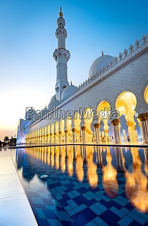 wspanialy wielki meczet w abu zabi