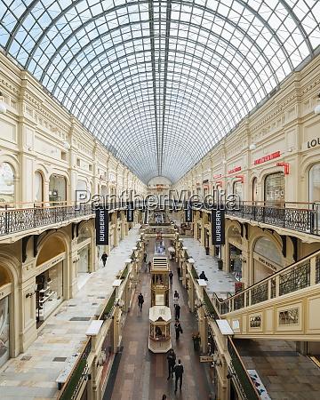 wnętrze, centrum, handlowego, gum, moskwa, obwód, moskiewski, rosja, europa - 28836816