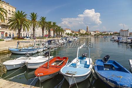split, harbour, z, katedrą, saint, domnius, split, wybrzeże - 28838191