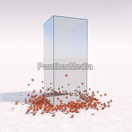 szklana klatka jako covid 19 ochrony