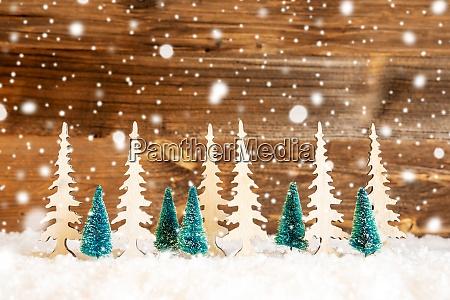 choinka, Śnieg, drewniane, tło, kopiuj, przestrzeń, płatki, śniegu - 28863566