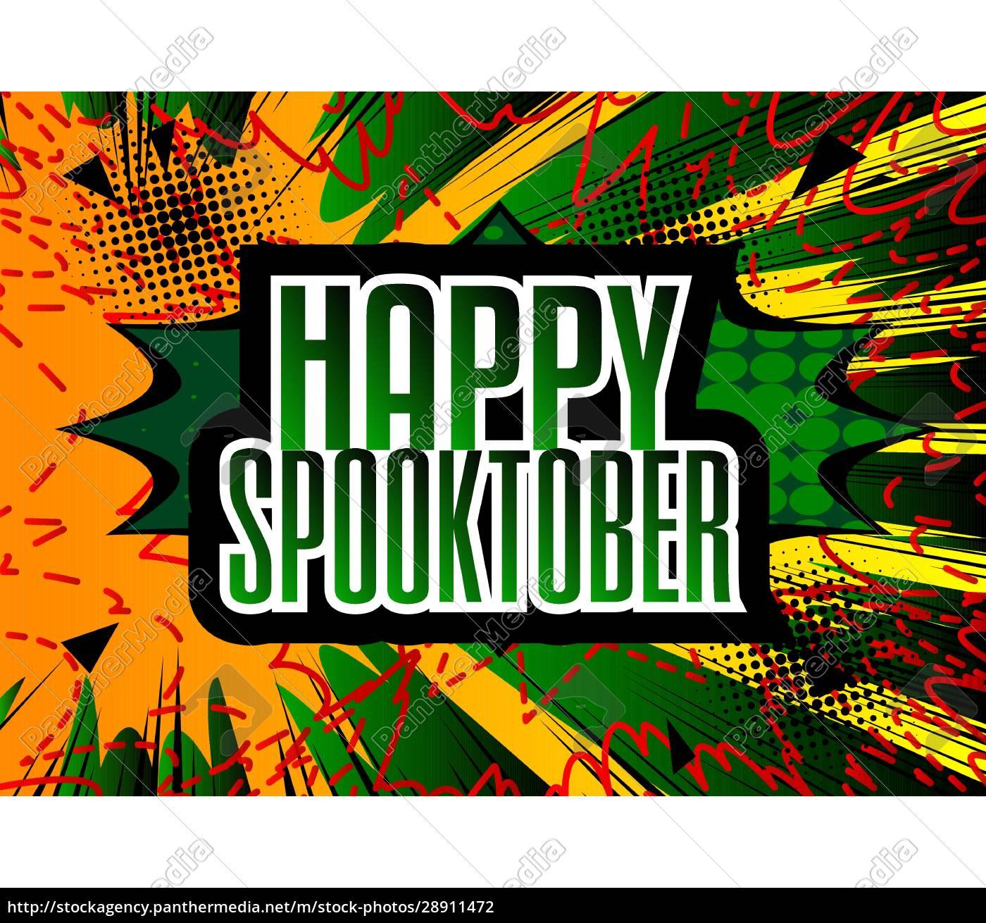 komiks, halloween, szablon, prezentacji, wakacje. - 28911472