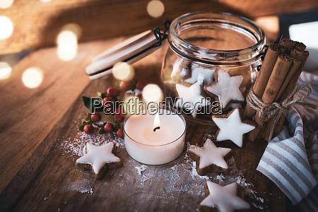 boze narodzenie martwa natura z gwiazdami
