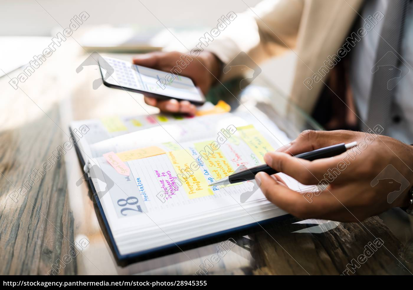 african, man, organizing, appointment, calendar, schedule - 28945355