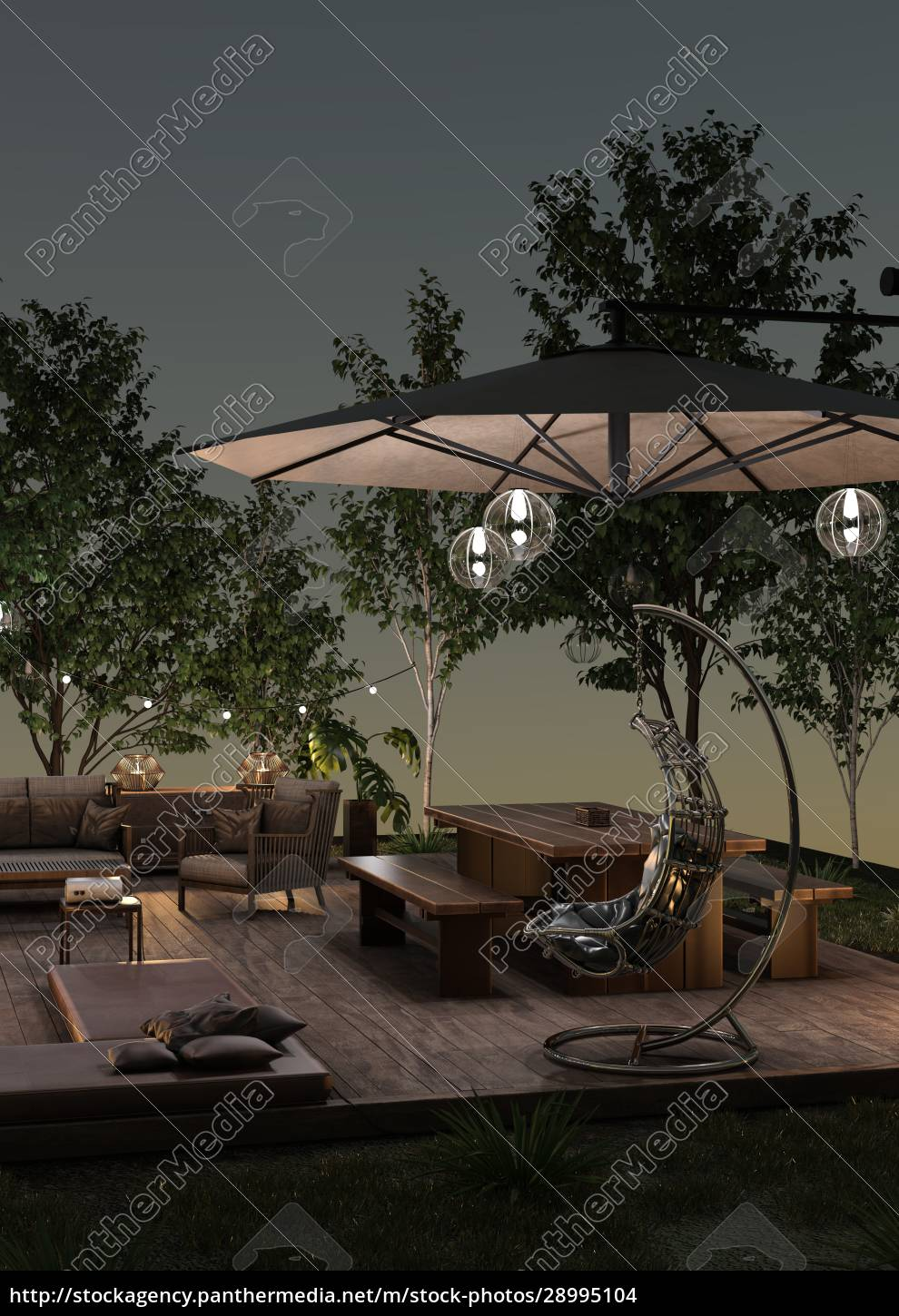 3d, rendering, home, theater, outside - 28995104
