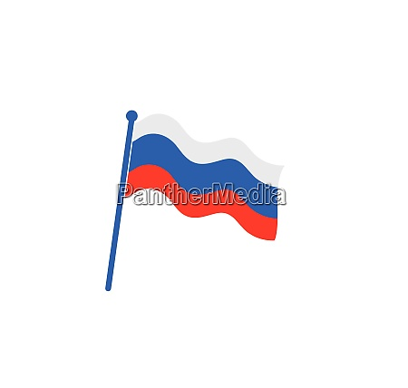 rosyjska flaga logo wektor