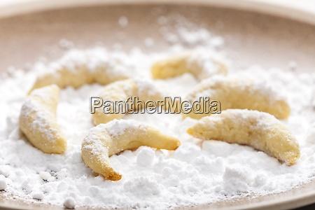 martwa natura swiatecznych ciasteczek waniliowych