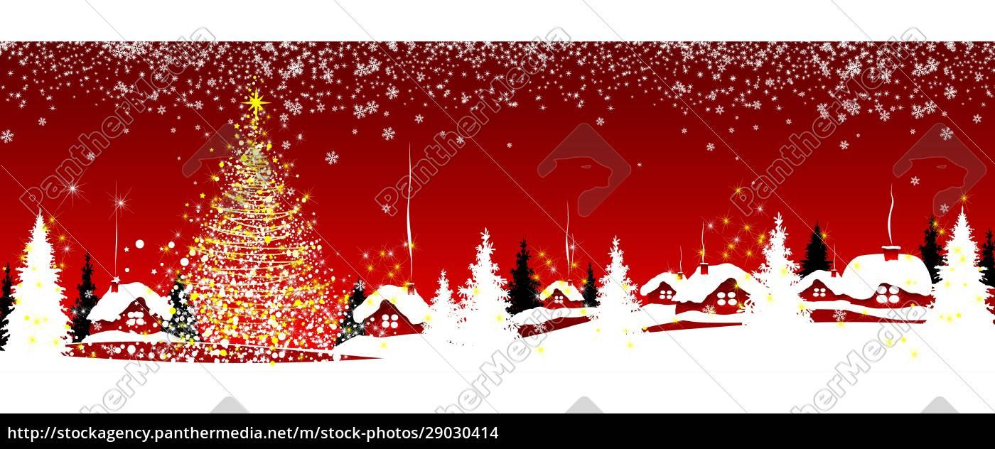 Świąteczna, śnieżna, noc, we, wsi - 29030414