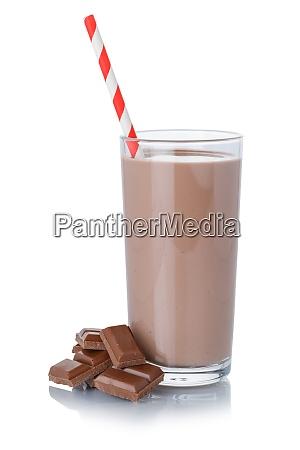 czekoladowe, mleko, shake, milkshake, w, szklanej - 29035699