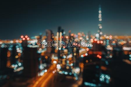 bokeh tlo nocnego miasta