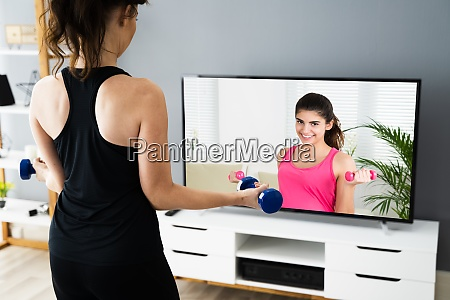 online tv home fitness trening