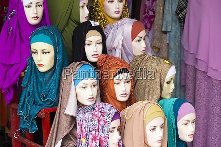 indonezja belitung chusty w sklepie odziezowym