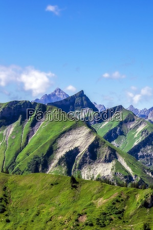 austria tyrol malowniczy widok na szczyty