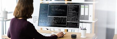 programista programista lub programista kobieta