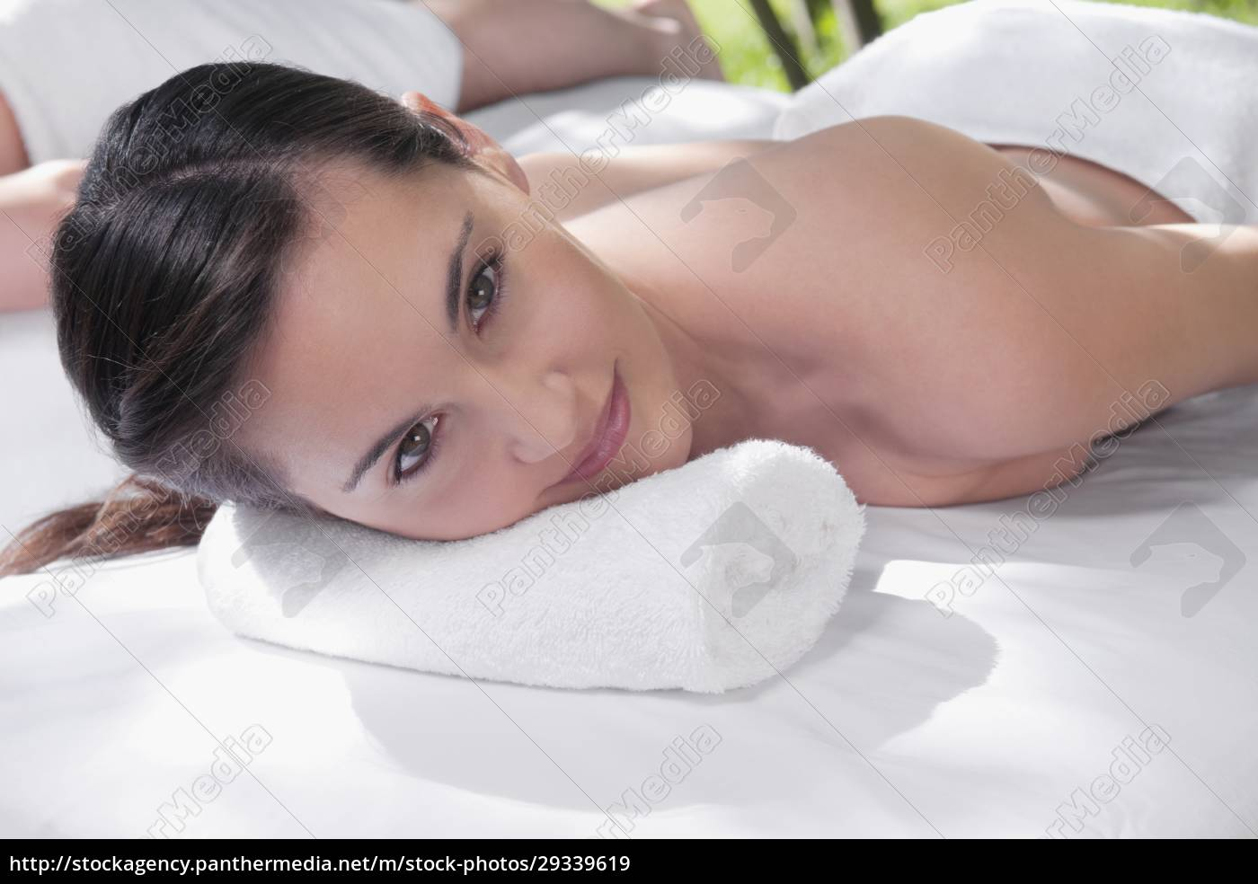 woman, lying, on, a, massage, table - 29339619