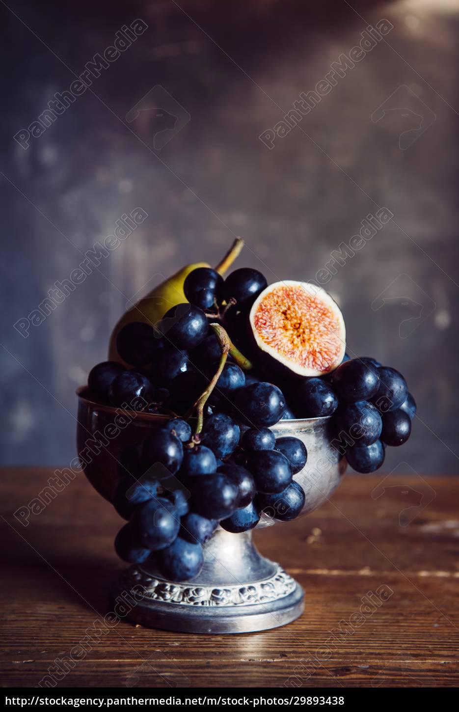 martwa, natura, z, owocami - 29893438