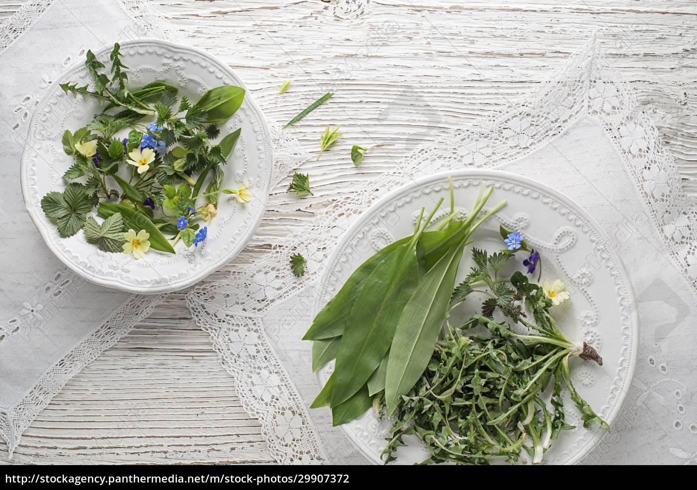 zdrowe, rośliny, wiosenne, składniki, żywności - 29907372