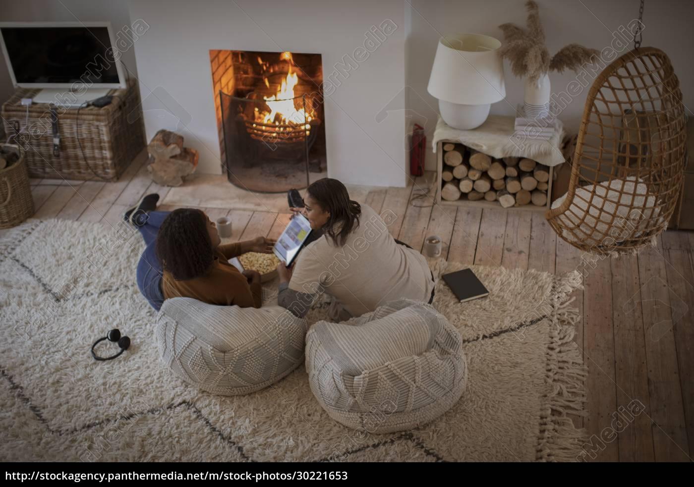 matka, i, córka, relaks, z, cyfrowym - 30221653