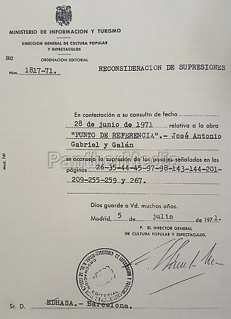 certyfikat, cenzury, frankistowskiej, wysłany, do, gabriela - 30256326