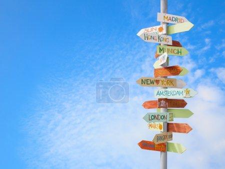 Niebieski, Niebo, wymiarowe, biznes, znak, Podróże - B22353977