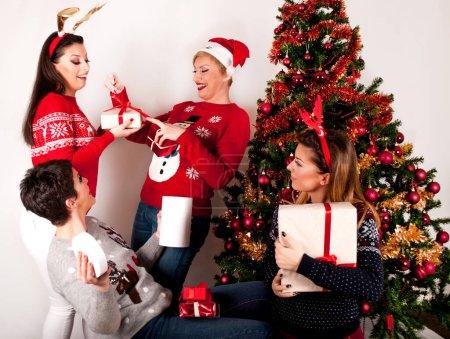 czerwony bialy tlo prezent piekna poklon