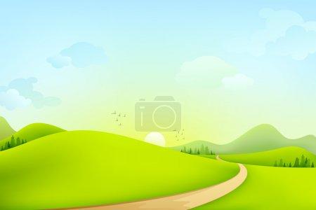 zielony, wektor, tło, tła, Widok, ilustracja - B11960583