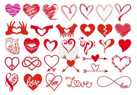 czerwony, biały, Wektor, Grafika, element, ilustracja - B62094785