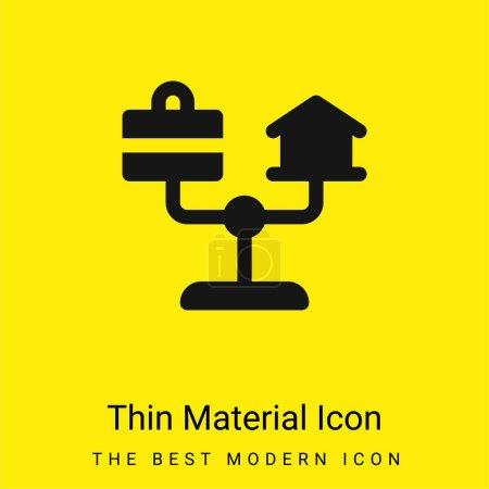 Żółty, wektor, czarny, ikona, Do domu, styl życia - B470899370